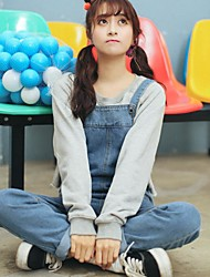 assinar 2017 nova versão coreana foi finas grandes estaleiros de personalidade macacão bolso suspensórios estudante universitário vento