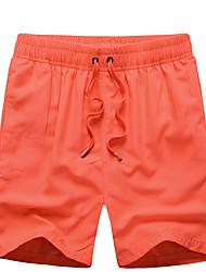 Hommes Ample Joggings Short Pantalon,simple Bohème Actif Décontracté / Quotidien Plage Sportif Couleur Pleine Taille NormaleCordon