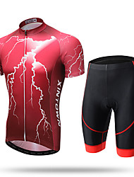 XINTOWN® Flash Sports Outdoors Cycling Clothing Short Sleeve Suit Men's Cycling Jerseys Shirts Tights and 3D Sponge Padded Shorts