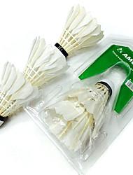3pcs Badminton Raquettes de badminton Volants Etanche Durable pour Intérieur Extérieur Utilisation Exercice Sport de détentePlume de