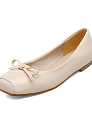 Women's Flats Spring Fall Comfort Novelty Patent Leather Customized Materials Office & Career Dress Casual Flat Heel Bowknot Split Joint