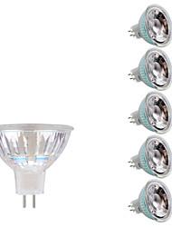 3W GU5.3(MR16) Spot LED MR16 1 COB 230/240 lm Blanc Chaud Blanc Froid DC 12 AC 12 V 6 pièces