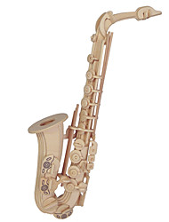 Jigsaw Puzzles Wooden Puzzles Building Blocks DIY Toys  Saxophone Puzzle 1 Wood Ivory Model & Building Toy