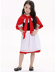 Cosplay Costumes Party Costume Kids Fairytale Festival/Holiday Halloween Costumes Red Patchwork Dress Halloween Carnival Children's Day Kid