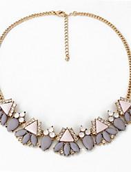 Women's Choker Necklaces Jewelry Jewelry Gemstone Crystal Alloy Tassel Fashion Personalized Euramerican European Black Gray Jewelry For