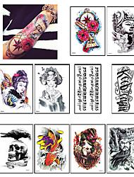 10 Временные тату Прочее Non ToxicРебенок Для детей Женский Мужской Подростки Вспышка татуировки Временные татуировки