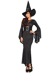 Black Gothic Witch Costume Adult The witch Flies Day Cosplay Costumes For Halloween Party Dress Sexy Witch Unfirm