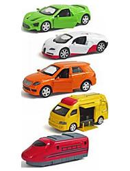 Carro de Corrida Playsets veículos Brinquedos de carro 1:64 Plástico Metal Arco-Íris Modelo e Blocos de Construção