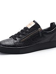 Men's Sneakers shoes Spring Fall Winter Comfort Patent Leather Outdoor Office & Career Casual Flat Heel Black