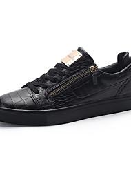 Herren Sneaker Komfort Vulkanisierte Schuhe Leder Frühling Sommer Herbst Winter Sportlich Normal Walking Komfort Vulkanisierte Schuhe