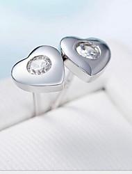 Boucles d'oreille goujon Argent sterling Simple Style Argent Bijoux Quotidien Décontracté 1 paire