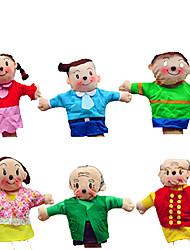 A Family  Dolls Professional DollsBig Hands Dolls Finger  Love Dolls Finger Puppet Model & Building Toy Toys Novelty Textile Cotton