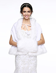 Women's Wrap Capes Faux Fur Wedding Party/Evening