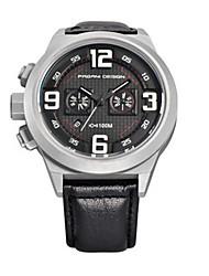 Sport Watch / Quartz Leather Band Vintage Black