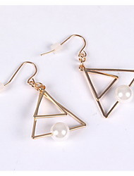 Earrings Set Imitation Pearl Pearl Imitation Pearl Alloy Simple Style Gold Jewelry Daily Casual 1 pair