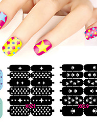 24pcs Manicure Sticker Printing Stickers Posted DIY Creative Hollow