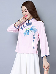 2017 spring clothing Chinese wind improved cheongsam tops Republican Women Slim long-sleeved cotton shirt