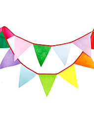 2.8m 12 Flags Multicolour Banner Pennant  Nonwoven Fabric  Bunting Banner Booth Props Photobooth Birthday Wedding Party Decoration