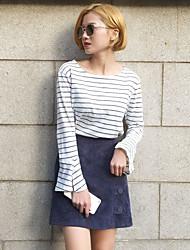 im Frühjahr 2017 unterzeichnen koreanische Version wurde dünne Taille Röcke retro wilde weibliche Beutelhüfterock A-Linie Rock