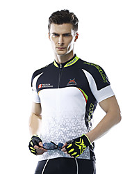MYSENLAN® Cycling Jersey Men's Short Sleeve Bike Quick Dry Breathable Jersey Polyester Fashion Summer