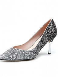 Women's Heels SpringFall Winter Comfort Novelty Patent Leather Leatherette Wedding Office & Career Party & Evening Dress Casual