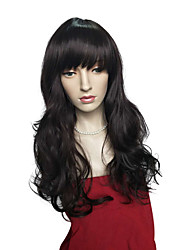 Top Quality Deep Wave Wig Long Synthetic Fiber Wig Natural Black Women Wig Cosplay Costume Wig