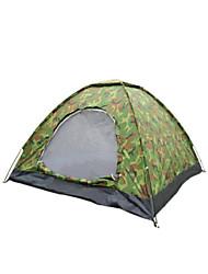 2 человека Световой тент Один экземляр Семейные палатки Однокомнатная Палатка Полиэстер Водонепроницаемый-Пешеходный туризм Походы