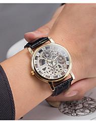 Masculino Relógio Esportivo Quartzo / Couro Banda Vintage Preta Branco Marrom Branco Preto Marron