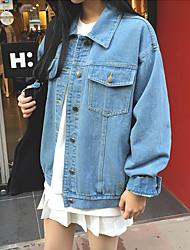 корея покупке небольшой лацкан карман двубортный короткий джинсовый жакет женщина