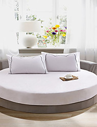Solid Cotton Round Fitted Sheet Two Meters In Diameter (1 Bedspread And 2  pillowcase 48cm*72cm)