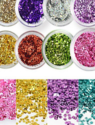 1 Bottle Sweet Style Colorful Nail Art Glitter Shiny Clear Water Droplet Paillette Decoration Nail DIY Decoration Nail Beauty Design Optional D01-11