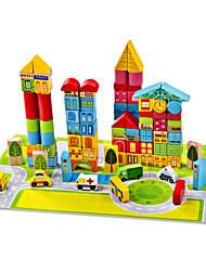 Brinquedo Educativo Brinquedos para presente Blocos de Construir Madeira 2 a 4 Anos Brinquedos