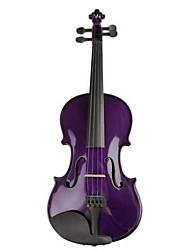Color Violin Purple Solid Wood Violin Beginner Solid Wood Maple