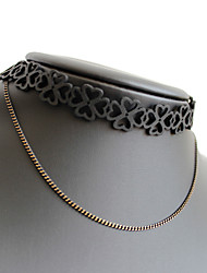 Women's Choker Necklaces Jewelry Alloy Jewelry Unique Design Euramerican Fashion Personalized Black JewelryParty Special Occasion