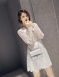 Гран При Европы самостоятельно * Портрет с длинными рукавами белого кружева платье праздник платье юбка основывая