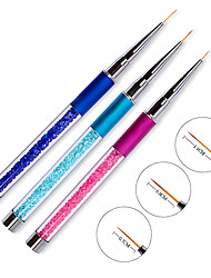 1PCS Pull The Nail Pen Carved With Diamond Manicure Painting Brush