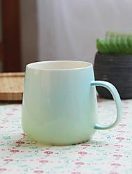 Vintage Drinkware, 370 ml Portable Ceramic Coffee Milk Coffee Mug Travel Mugs