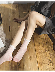 Nett Sign thick soft sister Japanese lace combed cotton socks thin stripe female autumn and winter in tube socks