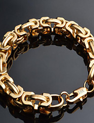 Men's Chain Bracelet Gold Plated 18K gold Fashion Geometric Gold Jewelry 1pc