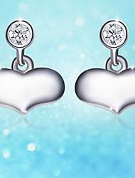 Boucles d'oreille goujon Argent sterling Simple Style Argent Bleu de minuit Bijoux Quotidien Décontracté 1 paire