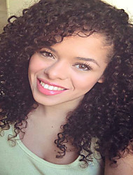 150% Density Pre Plucked Middle Part Short Kinky Deep Curly Straight Remy Virgin Human Hair Full Lace Front Wigs Natural Human  Hair For Black Women