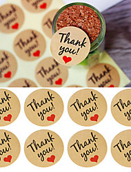 60 Pcs/5 Set Kraft Paper Thank You Gift Tags Wedding Favors Party Accessories Christmas DIY Burlap Wedding Vintage Wedding Decoration