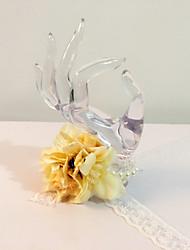 """Fleurs de mariage Rond Petit bouquet de fleurs au poignet Mariage La Fête / soirée Fleur séchée 6.69""""(Env.17cm)"""