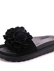 Slippers & Flip-Flops Summer Slingback Microfibre Casual Low Heel Flower Walking