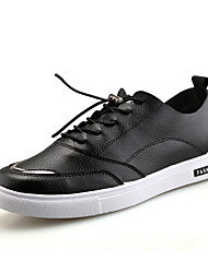 Fashion Hip Hop Mens Shoes Casual Trainers Luxury Brand 2017 Lace-Up Men Flats Shoes Breathable Black