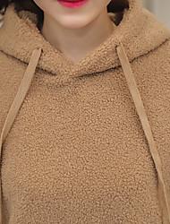 2016 neue Winter-Perlen mit Kapuze Pullover weibliche koreanische Version der Zustrom von Studenten lose Mantel Plüschmantel Sicherungs