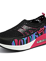 Sneaker-Outddor Lässig Sportlich-PU-Flacher Absatz-Kinderbett Schuhe-Schwarz Lila Grau Rosenrosa