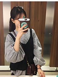 Dongguk porta de compra tarja lanterna manga modelos primavera dois conjuntos camisa blusas + vestido de tanque