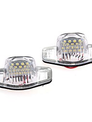 2 X Error Free 18 1210 SMD LED License Plate Light Lamp for Honda CR-V Fit Jazz Crosstour Odyssey