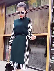 The new spring fashion style side buckle vest shirt dress two-piece long section belt +